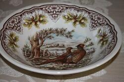 The Victorian English Pottery Pheasant Woodland Deep Serving Bowls - New - 9