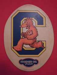 1930s Standard Oil Company Of California Cal Bears College Cardboard Patch