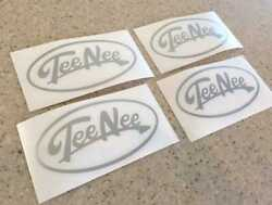 Tee Nee Vintage Boat Trailer Decals 4-pak Silver Free Ship + Fish Decal