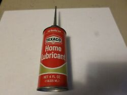 Vintage Advertising Display Texaco Home Lubricant Oil Handy Oiler Tin Can Spout