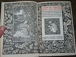 1895 Book Of Nursery Songs And Rhymes Baring-gould Illus In Arts And Crafts Style