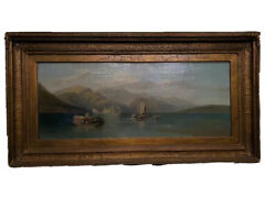 19th Century British Oil On Canvas Lanscape Painting Thomas Whittle