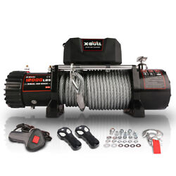 Electric Winch 12000lbs 12v Steel Cable Electric Winch For Truck Utv Atu Suv