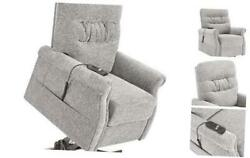 Electric Power Lift Recliner Chair Lazy Sofa For Elderly With Massage Grey