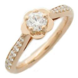 Cc Camellia Diamond Ring K18pg Pink Rose Gold Used Coco 50
