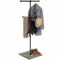 Mygift 2 Tier Double T-bar Industrial Pipe Clothing Rack Garment Display Stand W