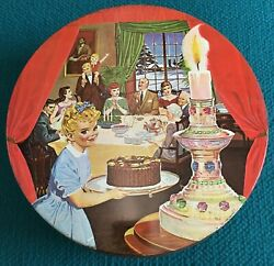Rare 10 Little Miss Sunbeam Christmas Tin Container @ Vintage Bread Bakers