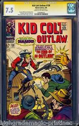 Kid Colt Outlaw 138 Cgc 7.5 Ss Stan Lee Single Highest Graded Cgc 1283485013