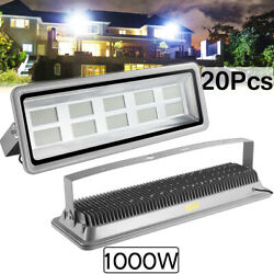 20x 1000w Led Flood Light Cool White Camping Outdoor Lighting Security Wall Lamp