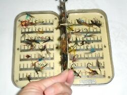 Vintage Wheatley Fly Fishing Tin With Selection Of Flies Carter And Co. Bond St