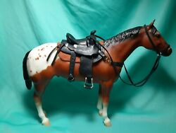 Custom Made Leather Saddle and Tack for Traditional Breyer Peter Stone Horse 1:9