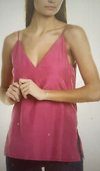 Club Monaco Xs Soft Solid Cami Chemise Pink/ Rose Made In India Nwt 98 Xs