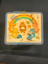Vintage 1980's Aladdin Care Bears Plastic Lunch Box With Thermo No Lid