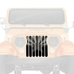 For Jeep Cj7 76-86 1-pc Tactical Arizona State Flag Style Perforated Main Grille