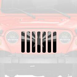 For Jeep Tj 97-06 1-pc Tactical Arizona State Flag Style Perforated Main Grille