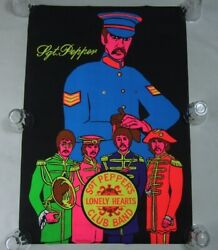 Beatles Poster 24x36 Vintage 1969 Sgt Pepper's Lonely Hearts Club Band Rare