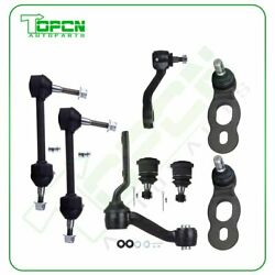 8pcs Front Ball Joints Sway Bars For Lincoln Town Car Marquis Crown Victoria