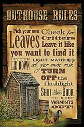 Bathroom Outhouse Rules 8 X 12 Metal Sign Metal Plaque 12x8 Inches