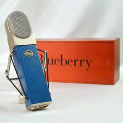 Blue Blueberry Condenser Microphone Made In Usa Latvian Parts