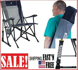 Gci Outdoor Roadtrip Rocker Outdoor Rocking Chair For Camping And Beach Midnight