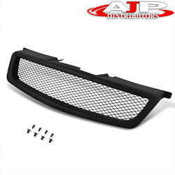 Black Diamond Mesh Style Front Upper Hood Grille Grill For 05-06 Nissan Altima
