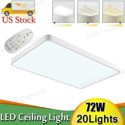 20pcs 72w Led Ceiling Light Ultra Thin Flush Mount Kitchen Home Fixture Dimmable