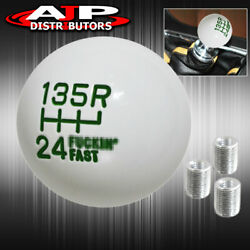 For Audi M8 M10 M12 M/t A/t Adapter Round Ball Racing Shift Knob Twist On Green