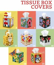 Tissue Box Covers, Snowbabies Lighthouse Piano Andmore Plastic Canvas Pattern Book