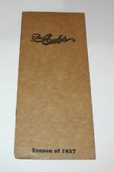 1927 Baseball Chicago Cubs Spring Training Player Roster Schedule Joe Mccarthy