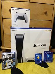 Sony Ps5 Blu-ray Edition Console - White-bundle-mlb The Show