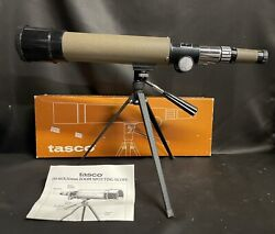 Vintage 1983 Tasco Spotting Scope And Stand 20x-60x50mm 19e