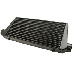 Front Intercooler Tube And Fin 600x300x76 3inch In/outlet Black For Universal