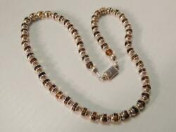 Antique Vintage Mexican Taxco Sterling Silver Amber Necklace By Jose Marmolejo