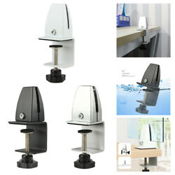 Office Desk Partition Bracket Divider Glass Clamp Clips Hardware Accessories