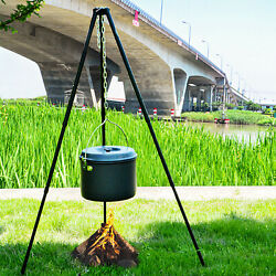Adjustable Grill Camping Tripod Outdoor For Campfire Triangle Stand Hiking