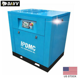 5.5hp 1 Phase Variable Speed Drive Rotary Screw Air Compressor Npt1/2 Blue