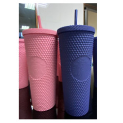 Starbucks Studded Tumbler Matte Navy And Matte Pink Cold Cup Thailand 24oz
