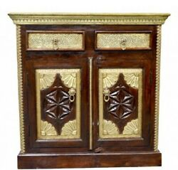 Indian Beautifull Brass Sideboard Storage Cabinet With Drawer Chest