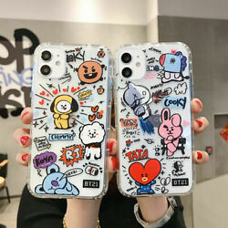 Funny Cute BT21 Soft Phone Case Cover For Phone 12 Pro Max 11 XR XS MAX 7 8 Plus $7.61