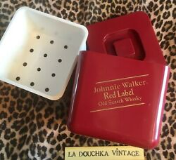 Johnny Walker 1960s Large Ice Bucket Scotch Whisky Red Label Made In England