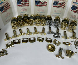 Lot Of 10 Schlage F40and605 Andover Knob Bed And Bath Locks Bright Brass Deadbol