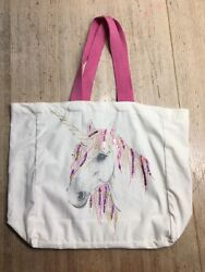 Unicorn Tote Shopper Bag Swimming Bag New Without Tags Off White Color $19.99