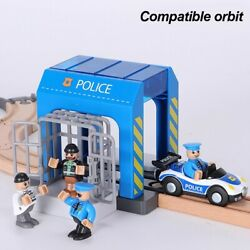 Simulation Plastic Toy Set Police Station Car Wash Room City Children Toys Gifts