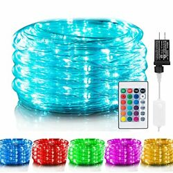 Color Changing Rope Lights 33 Ft 100 Led Outdoor String Assorted Sizes