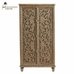 Wood Hand Carved Beautiful Self Cabinet For Home Decor Furniture