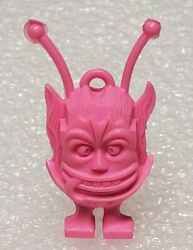 Vintage Plastic Big Daddy Roth Martian Fink Pink Gumball Charm And Ring Ed Roth