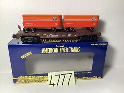 American Flyer 6-48246 Southern Pacific Flat Car- New - S ,ob,insert,ship.box