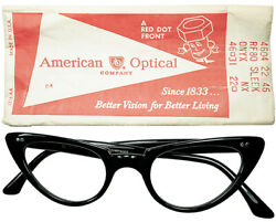 Only Vintage Design 1960s Dead Made In Usa Ao American Optical Star Hinge Cateye