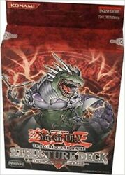 Yu-gi-oh - Dinosaurand039s Rage Trading Card Game Structure Deck Ude / Konami New