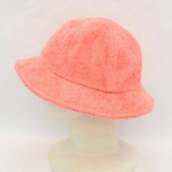 CHANEL Bucket Hat Coco Beach Cotton Pile Pink Size M Used 8828ME $1299.99